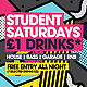 Student Saturdays Commercial Club Flyer - GraphicRiver Item for Sale