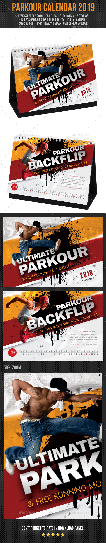 Ultimate Parkour Desk Calendar 2019 - Calendars Stationery