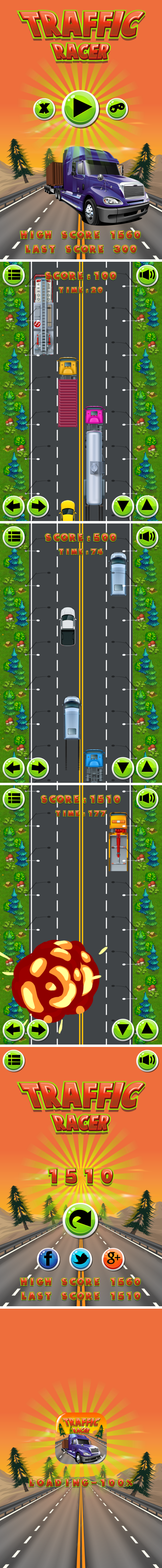 Traffic Racer - HTML5 Game + Mobile Version + AdMob! (Construct 3 | Construct 2 | Capx) - 3