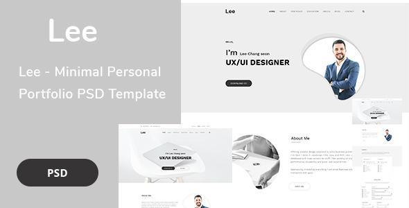 Lee - Minimal Personal Portfolio PSD Template - Portfolio Creative