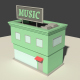 Low Poly Music Store
