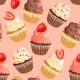 Seamless Cupcakes on Pink Background - GraphicRiver Item for Sale