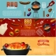 Barbecue Grill Elements Set - GraphicRiver Item for Sale