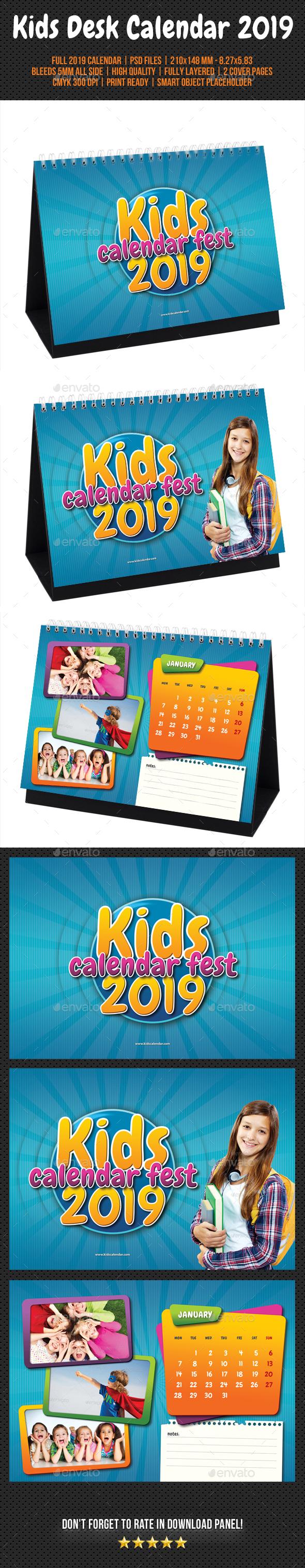 Kids Desk Calendar 2019 - Calendars Stationery