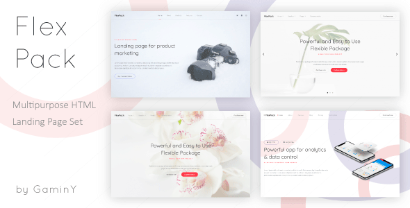 Image of FlexPack - Multipurpose HTML Landing Pages Package