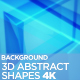 3D Abstract Shapes Background 4K - VideoHive Item for Sale