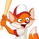 Baseball Fox - GraphicRiver Item for Sale