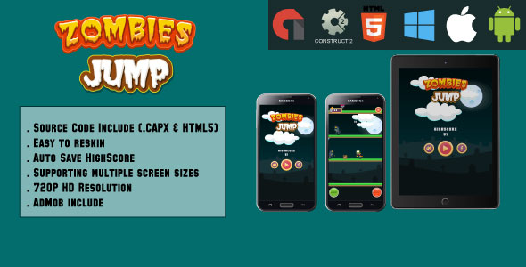 Jumping Monsters - HTML5 Game - Mobile & Web (HTML5 & CAPX) - CodeCanyon Item for Sale
