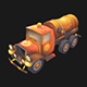 Stylized Sewer Truck - 3DOcean Item for Sale