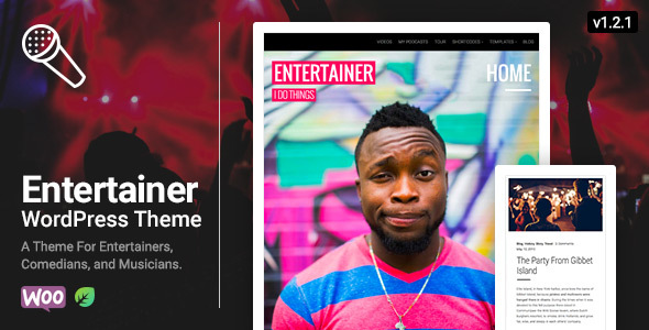 Image of Entertainer - Comedians, Actors, Musicians, Professionals, Responsive WordPress Theme