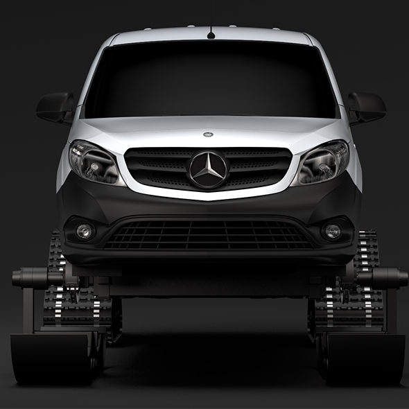 Mercedes Benz Citan Van Ski 2018 - 3DOcean Item for Sale