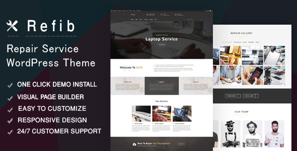 Refib - Digital Repair Service WordPress Theme - Technology WordPress