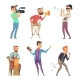 Creative Characters Isolated on White - GraphicRiver Item for Sale