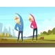 Elderly Couple Exercises - GraphicRiver Item for Sale