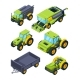 Isometric Illustrations of Combine Tractor