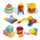 Isometric Preschool Children Toys - GraphicRiver Item for Sale