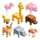 Isometric Illustrations of Stylized 3d Animals - GraphicRiver Item for Sale