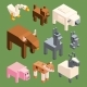 Isometric Animals of Farm
