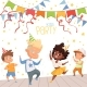 Background Illustrations at Childrens Dance Party - GraphicRiver Item for Sale