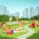 Childrens Playing in Educational Games Outdoor - GraphicRiver Item for Sale