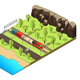 Isometric Railroad Transportation Concept