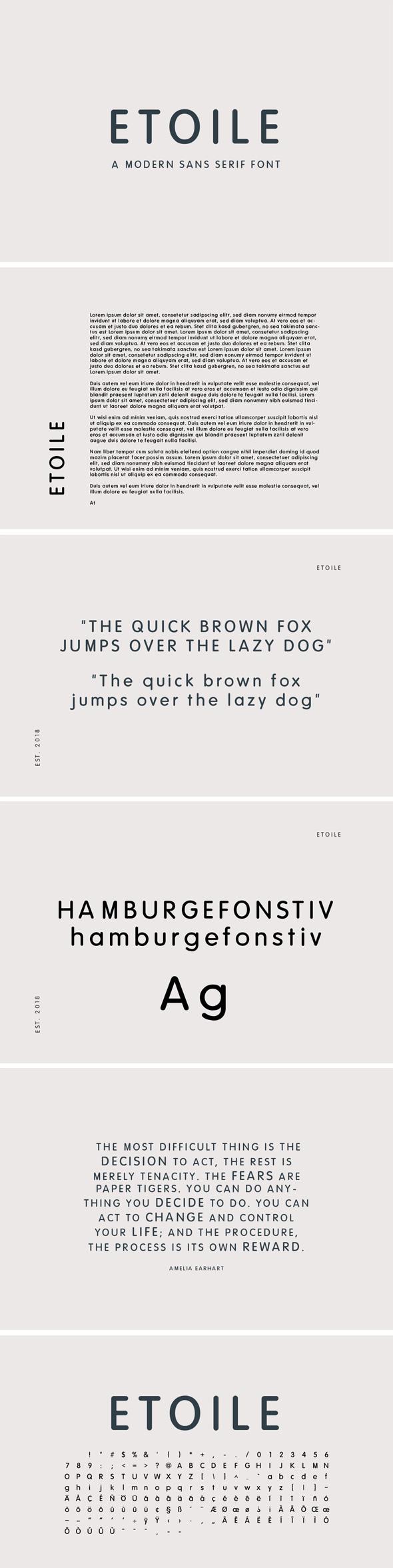 Etoile - Sans Serif Font - Sans-Serif Fonts