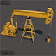 Oil Pumpjack 3D Model - 3DOcean Item for Sale