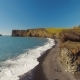 Panorama From Dyrholaey Cape From Mountains To Black Sand Beach - VideoHive Item for Sale