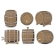 Wooden Barrel Set