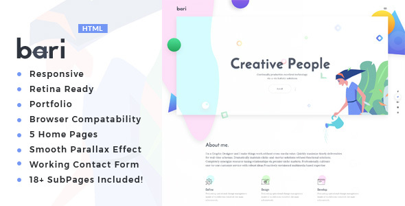 Bari - Portfolio for Freelancers & Agencies