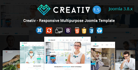 Creativ - Responsive Multipurpose Joomla Template - Business Corporate