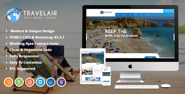 Image of Travelair | Travel & Tour Booking HTML5 Template