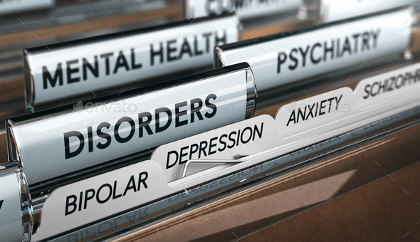 Mental Health Disorders File - Stock Photo - Images