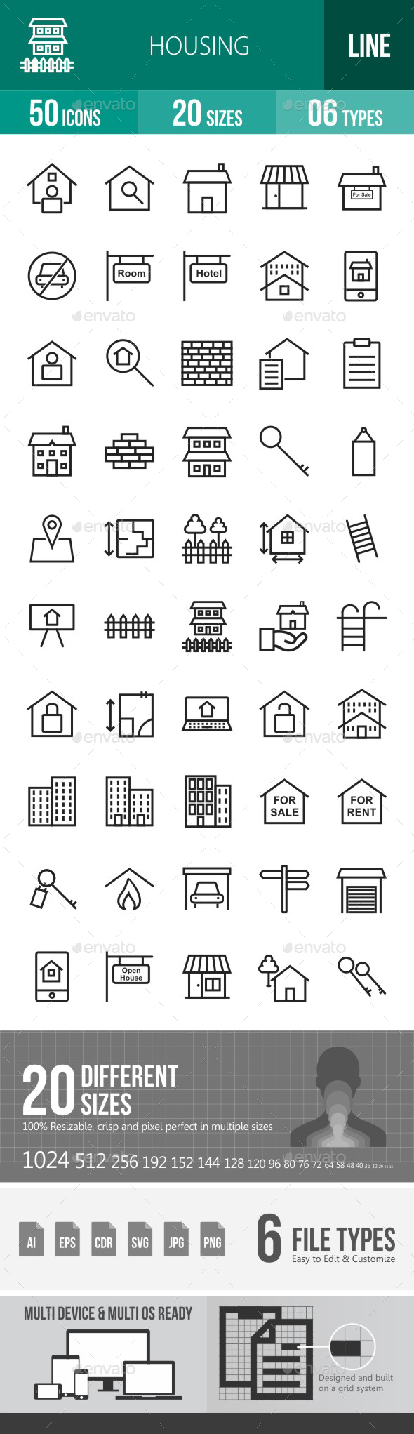 Housing Line Icons - Icons
