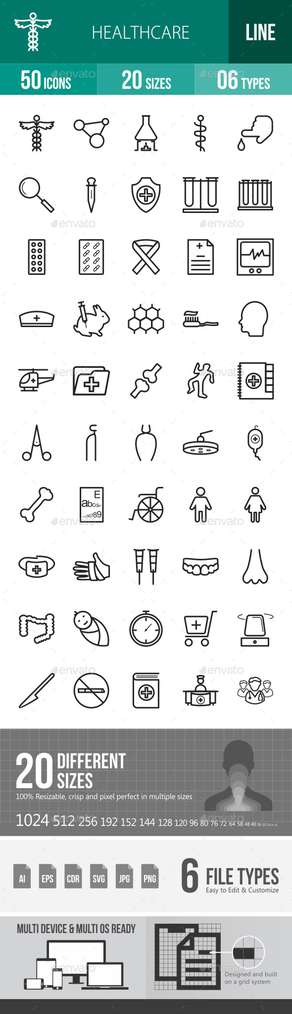 Healthcare Line Icons - Icons