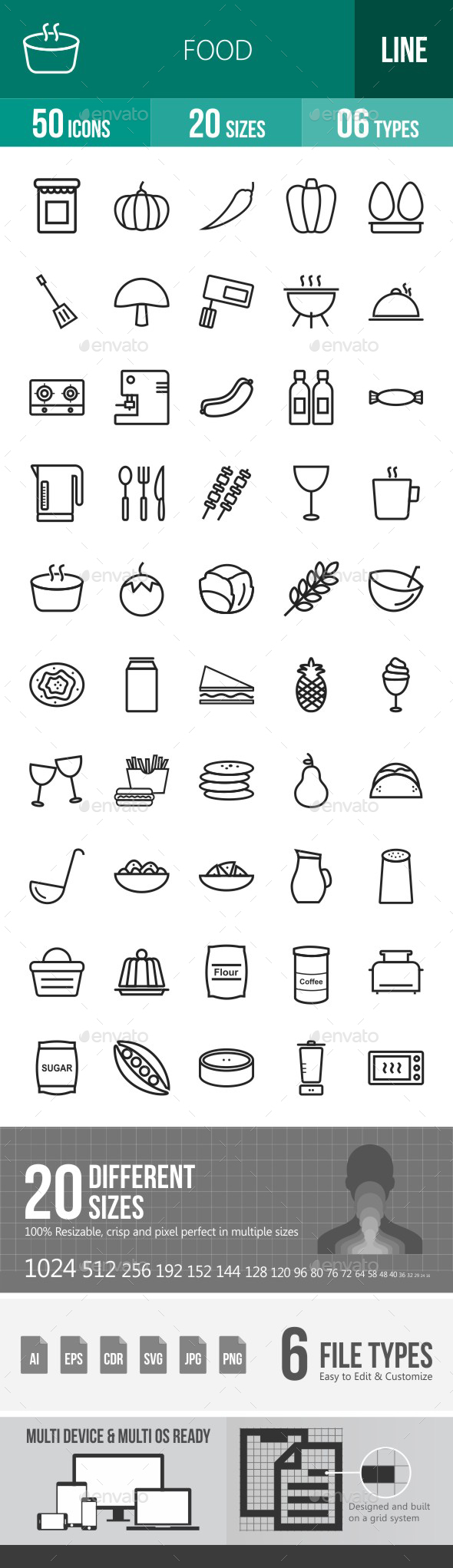 Food Line Icons - Icons