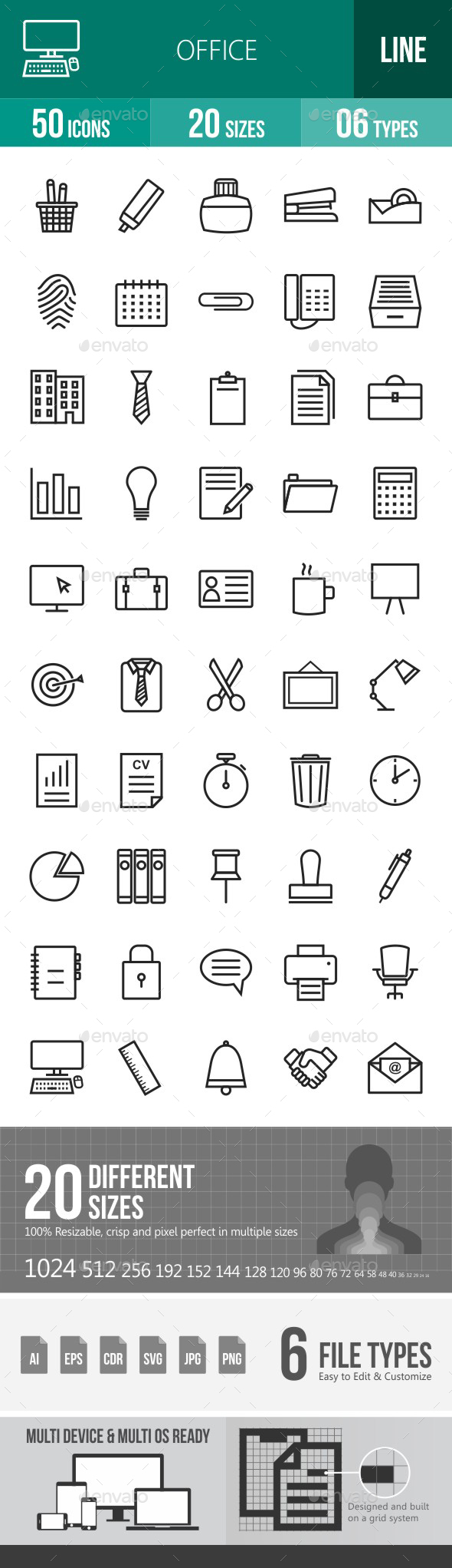 Office Line Icons - Icons