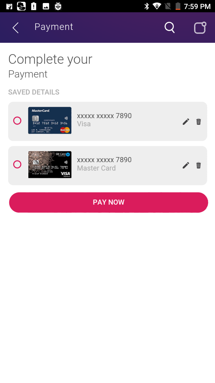 Novero- A Mobile Payments System Template
