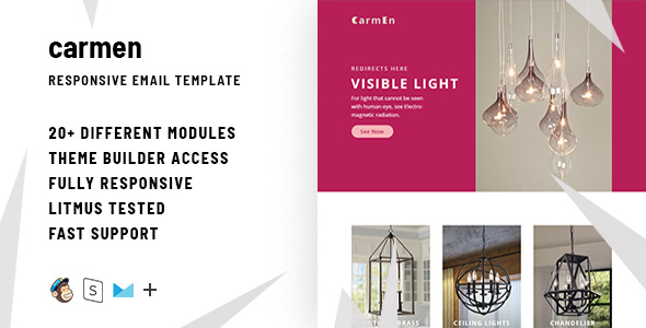 Image of Carmen – Responsive Email + StampReady Builder