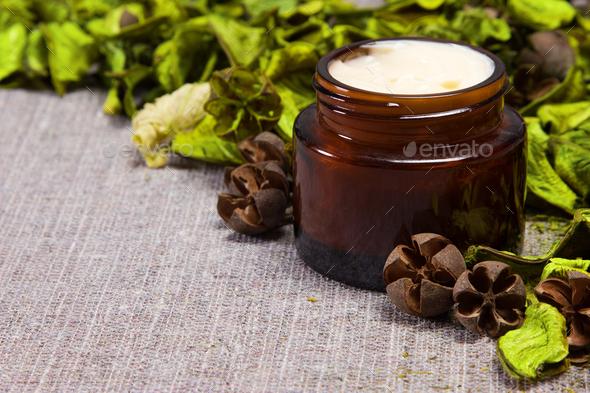 Natural skin care cream - Stock Photo - Images