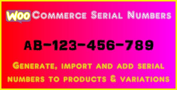 WooCommerce Serial Numbers - WordPress Plugin - CodeCanyon Item for Sale