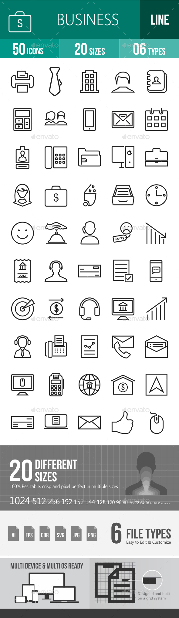 Business Line Icons - Icons