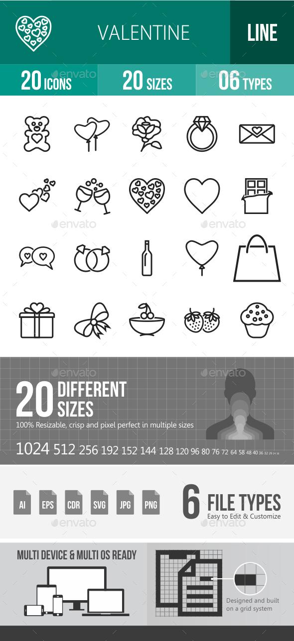 Valentine Line Icons - Icons