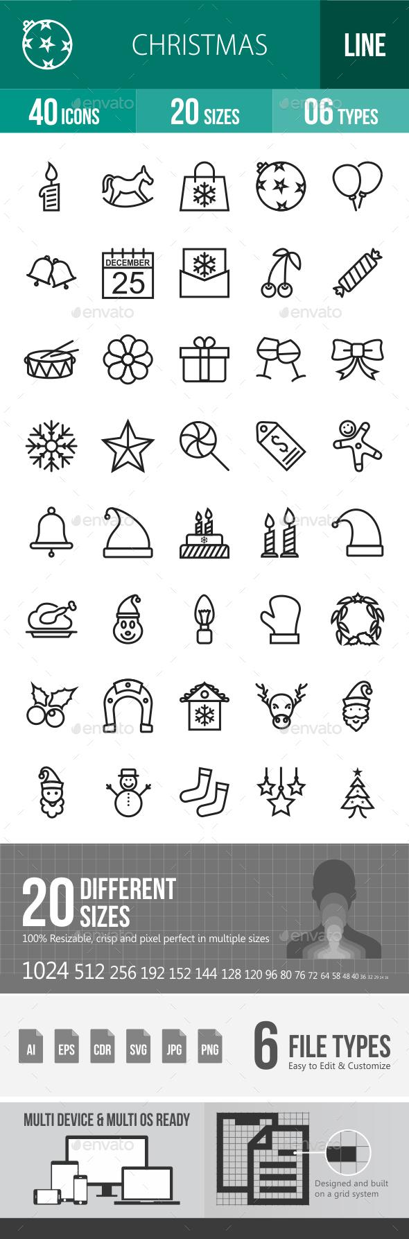Christmas Line Icons - Icons