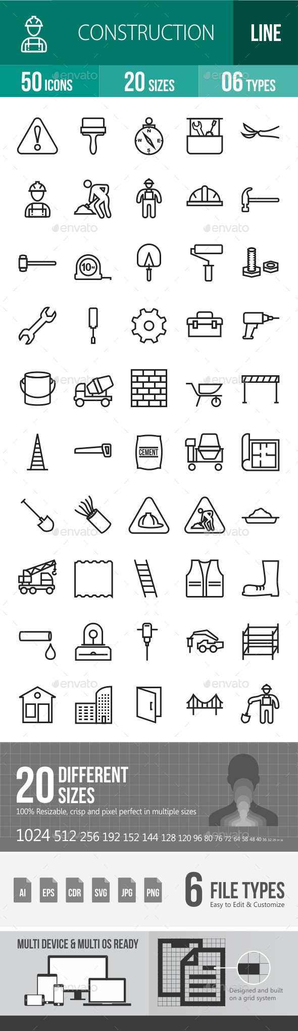 Construction Line Icons - Icons