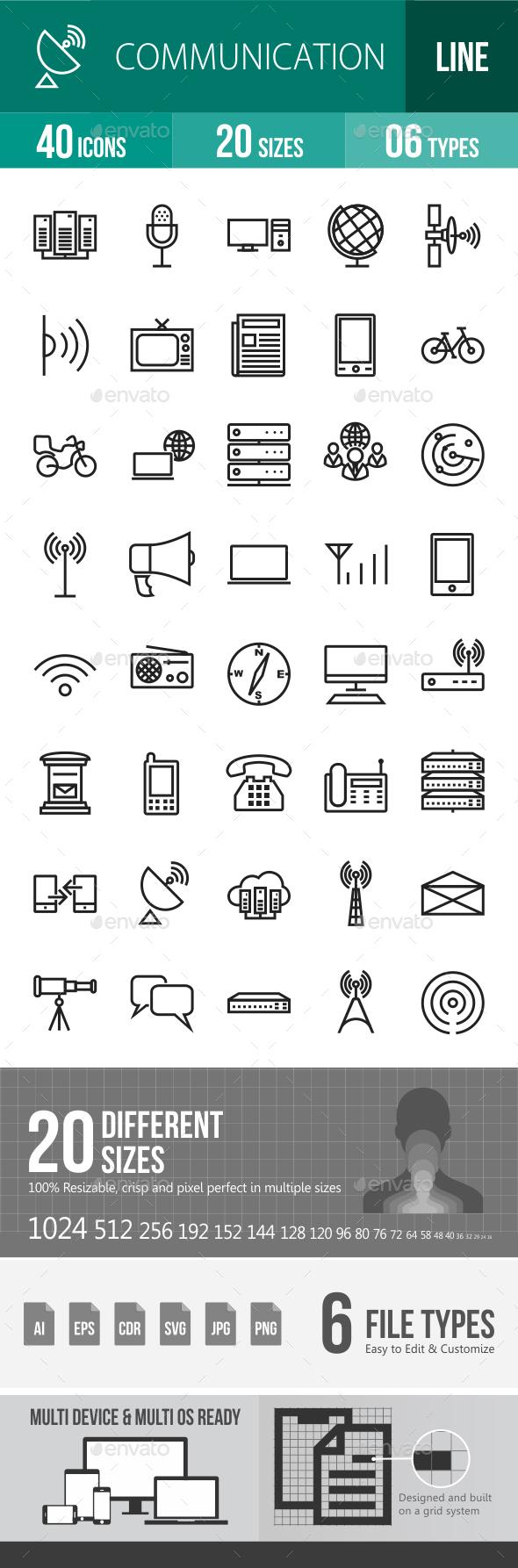 Communication Line Icons - Icons