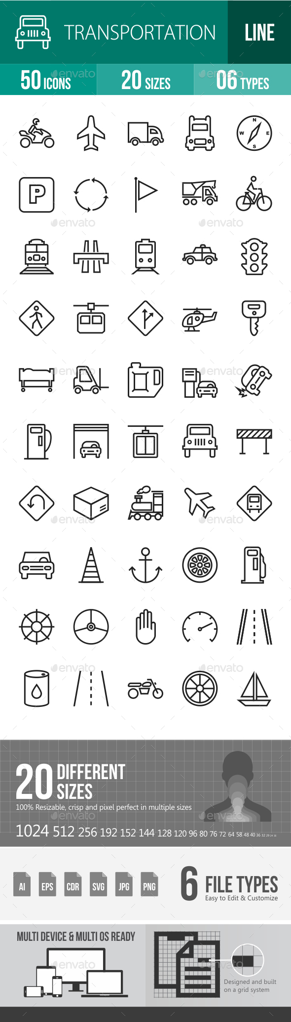 Line Transport Icons - Icons