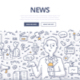 News Doodle Concept - GraphicRiver Item for Sale