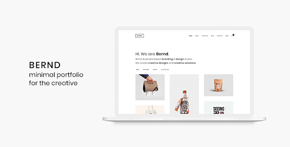 Image of Bernd - Minimal WordPress Portfolio Theme