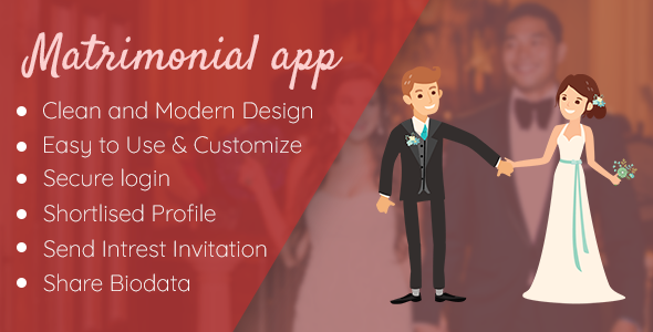 Matrimonial - Wedding app - CodeCanyon Item for Sale